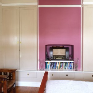 Wardrobes / joinery unit to old fireplace
